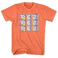 Mens Stacked Pez Candy Retro T-Shirt