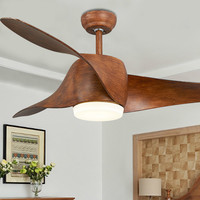 Nordic Brown Vintage Dc Ceiling Fan W/ Lights Remote Control Ventilador De Techo 220 Volt Fan Led Light Bulbs Bedroom Fan Lamp
