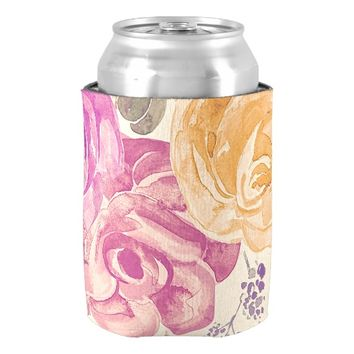 Colorful Garden Roses Can Cooler