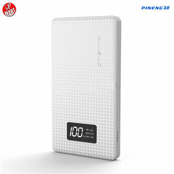 Original Pineng 10000mah PN963 Power Bank Bank power Portable Battery Mobile Li-Polymer Bank with LED Indicator For iphone6s