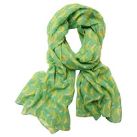 Bananas Scarf, Green/Yellow, Scarves