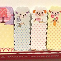 1 X Cute Sheep Animal Sticker Post-it Bookmark Marker Memo Flags Index Tab Sticky Notes