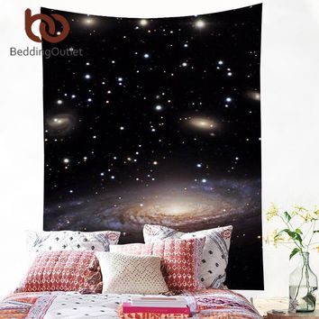 BeddingOutlet Nebula Tapestry 3D Printed Galaxy Dark Wall Carpet Home Hanging Wall Tapestries Polyester Sheet 130x150 150x200cm