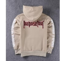 Men's Justin Bieber Purpose Tour Hip Hop Jjumper Pullover Hoodie