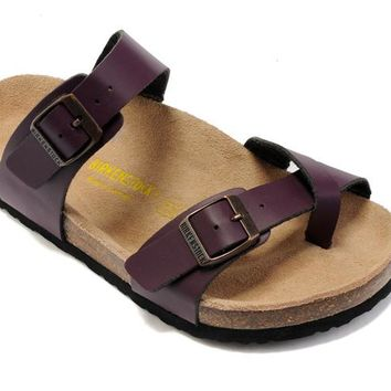 Birkenstock Mayari Sandals Leather Purple - Ready Stock