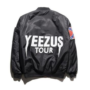 Kanye West motorcycle Jacket New fashion Jacket Hip Hop Men Brand YEEZUS Jacket Camouflage Air Force Flight Bomber Men