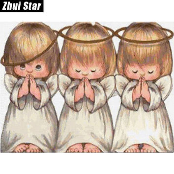 Three Angels 20X25 New Needlework 100% Full Square Drill Diamond Painting 5D Diy Cross Stitch Diamond Embroidery Mosaic Gift