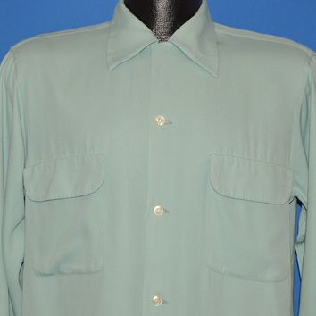 50s Arrow Gabanaro Loop Collar Rockabilly Shirt Medium