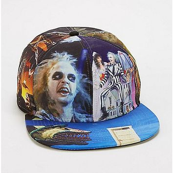 Beetlejuice Sublimated Snapback Hat - Spencer's