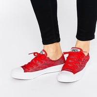 Converse Knit Ox Chuck Taylor All Star II Red Plimsoll Trainers