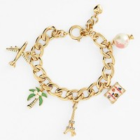 Juicy Couture 'Jet Set Girl' Charm Bracelet | Nordstrom