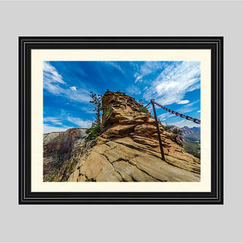 Angel's Landing Chain Railing - Zion National Park, Utah - Fine Art Print - Photograph, Scenic Photography, Nature Print
