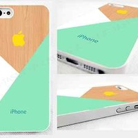 case,cover fits iPhone models>Pastel>mint>pic of wood,geometric,abstract,retro