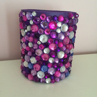 Purple Rhinestone Drink Koozie