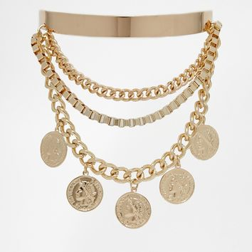 New Look Coin Arm Cuff