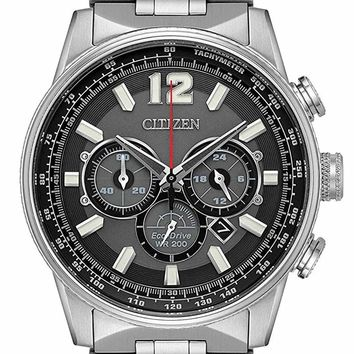 Citizen Eco-Drive Stainless Steel Chronograph Watch CA4370-52E
