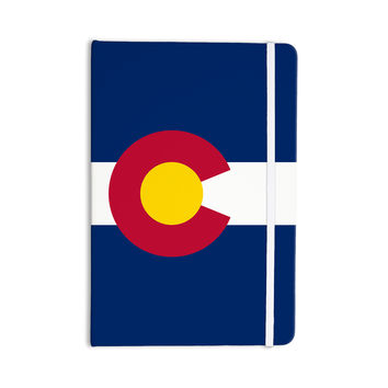 """Bruce Stanfield """"Colorado State Flag"""" Blue Red Everything Notebook"""