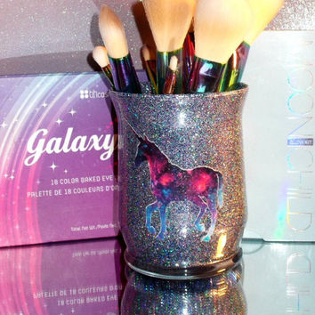 Galaxy Unicorn Makeup Brush Holder - YOU CUSTOMIZE!
