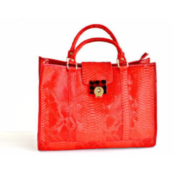 Red Purse Red Tote Handbag
