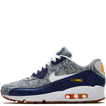 Nike x Liberty Dark Blue Crown Liberty Print Air Max 90 Trainers  070362f3647c
