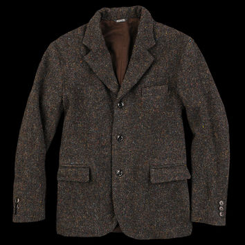 UNIONMADE - 8.15 August Fifteenth - Harris Tweed Wagoner Sportcoat in Dark Brown Mix