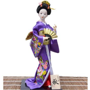 2016 New year Christmas Ornaments for home deocration Hand-made craifts Beautiful kimono Japan Geisha sculpture Creative gifts
