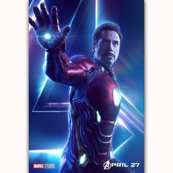 MQ3553 Avengers Infinity War Iron Man Movie Characters 2018 Film Art Poster Silk Canvas Home Decoration Wall Picture Printings