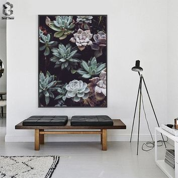Cactus Canvas Posters and Prints Nordic Wall Art Succulent Painting Plant Scandinavian Decoration Picture for Living Room Decor