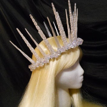 Silver, Snow, Ice, Icicle, Crown, Fairy, Queen, Princess, Frozen, Elsa, Tiara, Game of Thrones, Christmas, Winter, Royal, Goddess, Costume