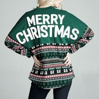 Merry Christmas Ugly Christmas Spirit Jersey® Pullover