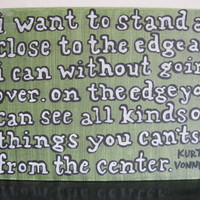Painted Canvas Kurt Vonnegut Quote by coolzeens on Etsy