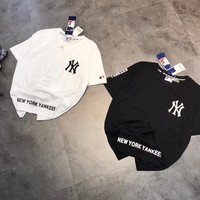 """NEW YORK"" Unisex Casual Classic Embroidery Letter Print Short Sleeve Couple T-shirt Tops Tee"