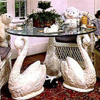 Long Neck Swan Set (3) Dining Table Base 29H - TAL615