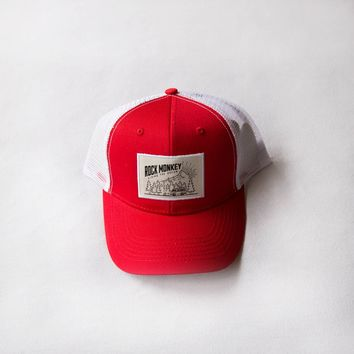 Rock Monkey Outfitters Camper Hat Red