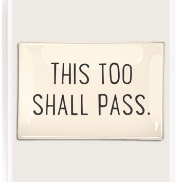 This Too Shall Pass Decoupage Glass Tray