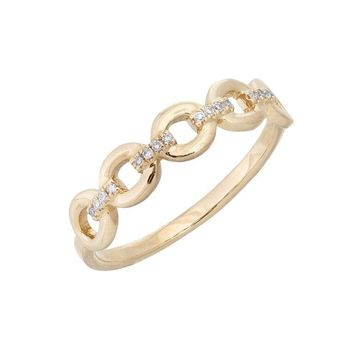Diamond Link Ring 14KT