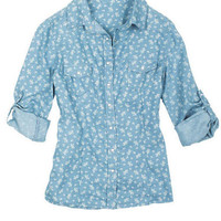 Light Floral Chambray