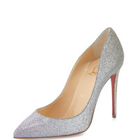 Christian Louboutin Pigalle Follies Glitter 100mm Red Sole Pump, Drage