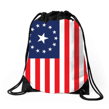 Fallout 3 American Flag Drawstring Bags