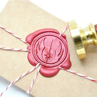 Star Wars Jedi Symbol Gold Plated Wax Seal Stamp x 1