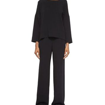 Helmut Lang Pull-On Wide-Leg Pants