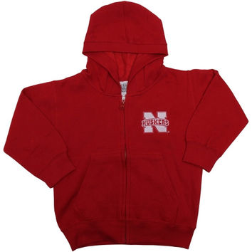 Nebraska Cornhuskers Infant Hooded Fleece Jacket - Red - http://www.shareasale.com/m-pr.cfm?merchantID=7124&userID=1042934&productID=540995573 / Nebraska Cornhuskers