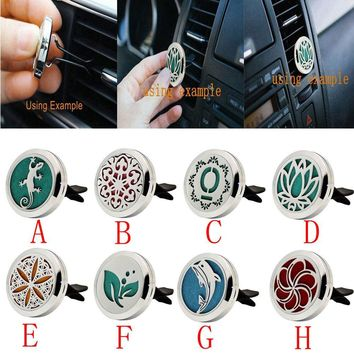 Stainless Car Air Auto Vent Freshener Essential Oil Diffuser Gift Locket Decor