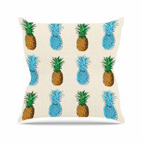 "Kess Original ""Fineapple"" Food Abstract Throw Pillow"