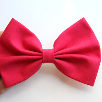 NEW - Monique Hair Bow - Hot Pink Hair Bow with Clip