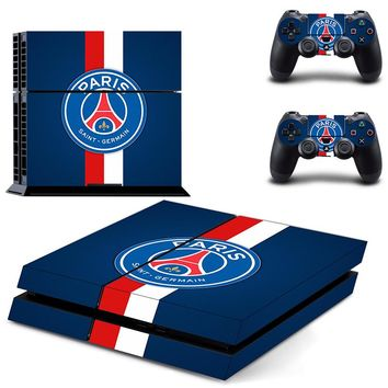 Paris Saint Germain PSG Football Team PS4 Skin Sticker Decal For Sony PS4 PlayStation 4 Console and 2 Controllers Stickers