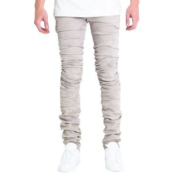 ONETOW Embellish NYC Cano Jeans In Grey