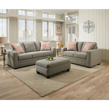 Simmons Upholstery Miramar Ash Queen Sleeper Sofa | Overstock.com Shopping - The Best Deals on Sofas & Loveseats
