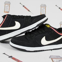 "AUGUAU Nike Dunk Low Premium SB ""Black Fire Cracker"""
