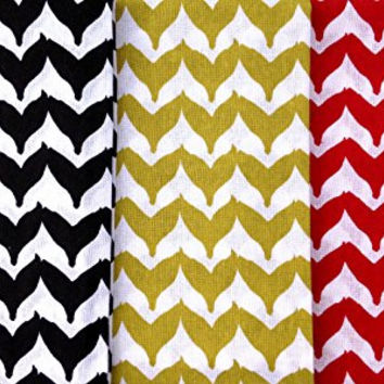 Torano Chevron (Whale's Tail) Cotton Kitchen Dish Towel Set of 3